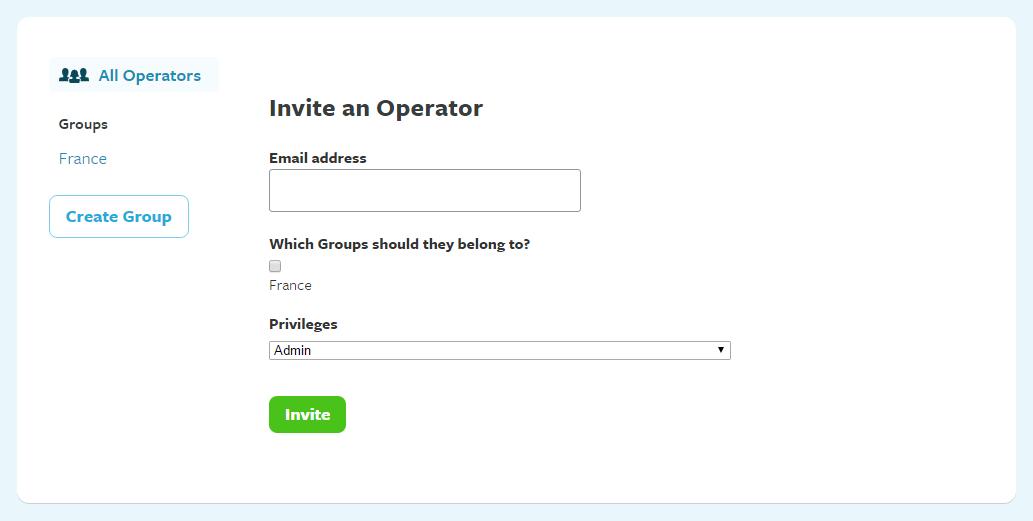 Send an invitation