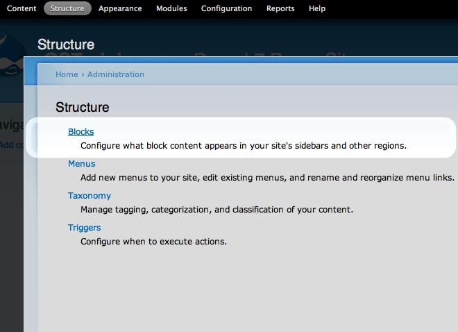 Image of block menu item