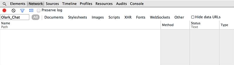Chrome Developer Tools Network Tab