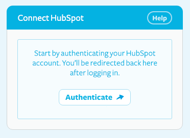 Connect hubspot modal