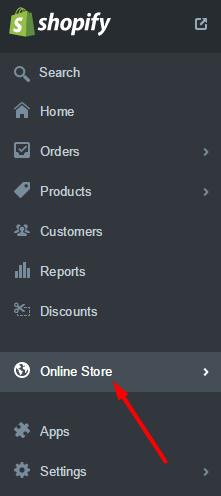 Shopify menu