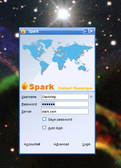 Spark app login
