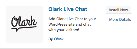 Olark install now button