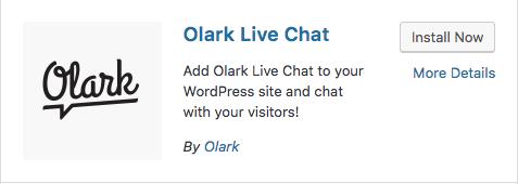 Olark install now button
