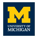 logo for the University of Michigan