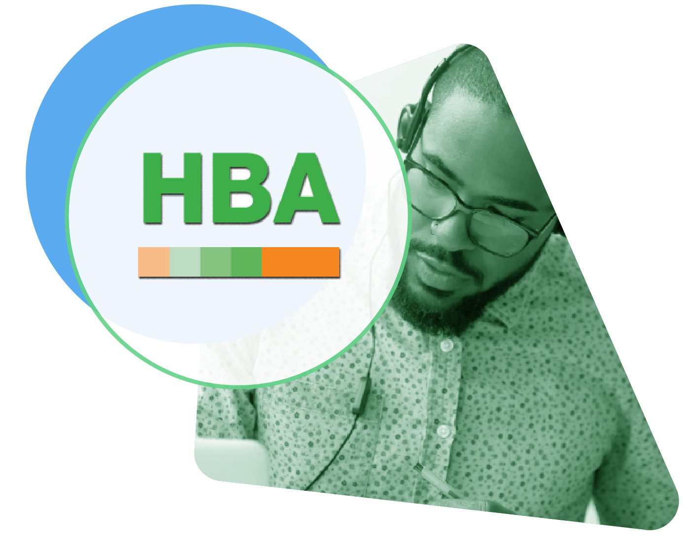 HBA Learning Centres logo image with live chat icons