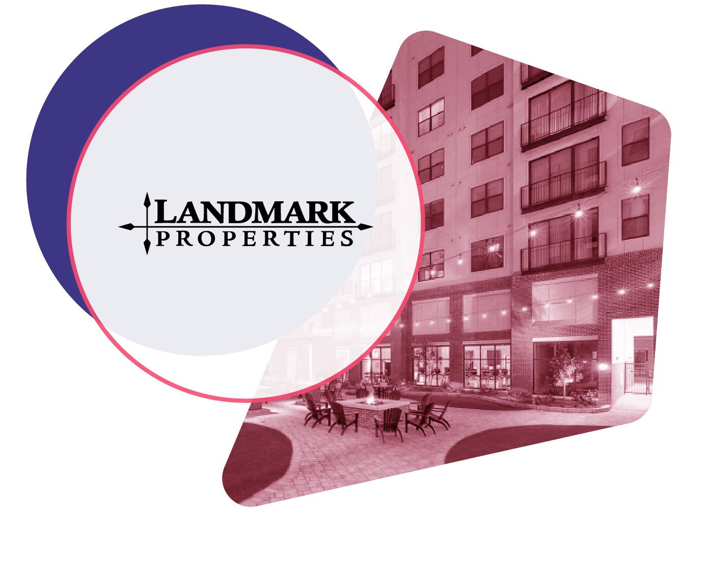 Landmark Properties logo and property image