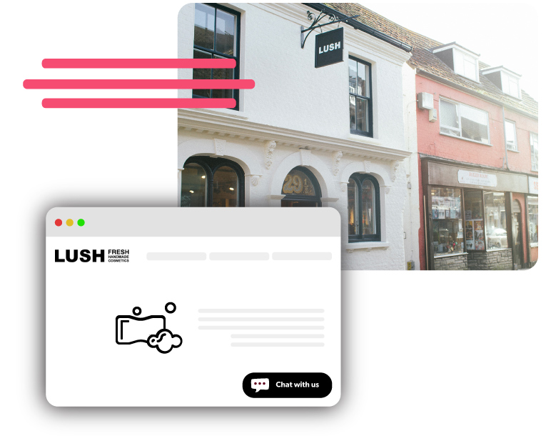Lush Cosmetics UK using Olark live chat