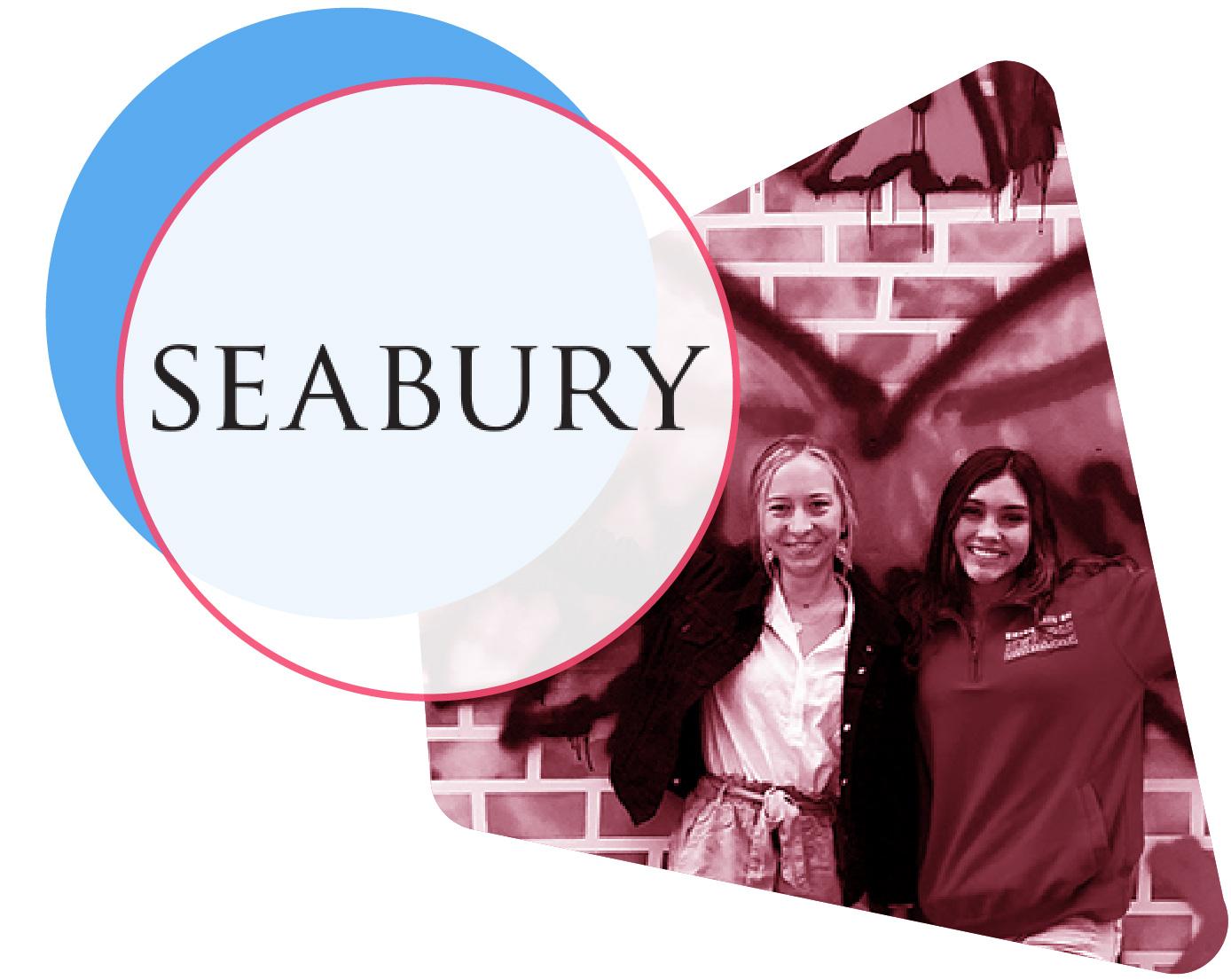 Seabury Academy logo and student image
