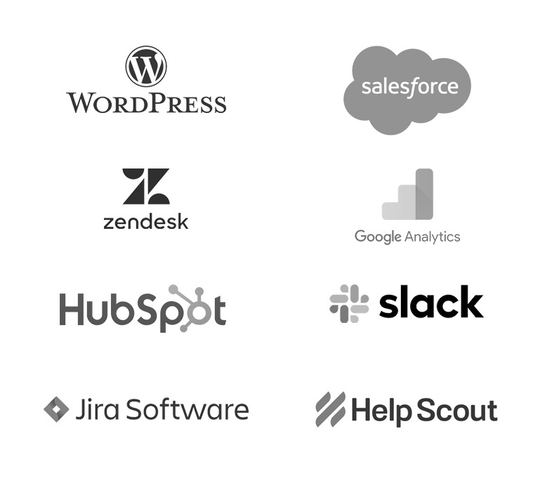 group of logos of apps that Olark integrates with