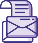 icons showing an envelope