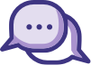 icons showing a chat bubble