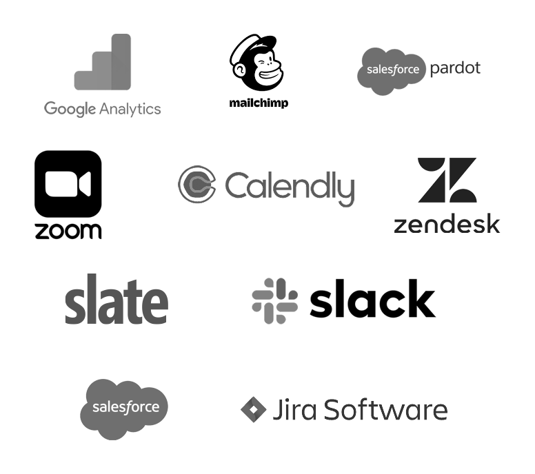 Olark integrates with WordPress, Salesforce, ZenDesk, HubSpot, Slack, Google Analytics, HelpScout, MailChimp, JIRA, and many more.