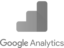 google analytics logo in grayscale