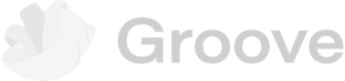groove logo in grayscale