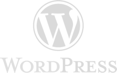 wordpress logo in grayscale
