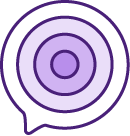 bullseye icon representing live chat customization color wheel