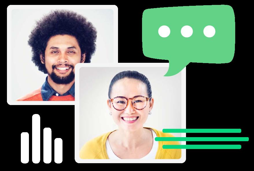 live chat agent faces
