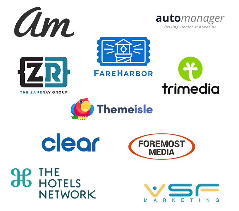 Logos of companies that partner with Olark