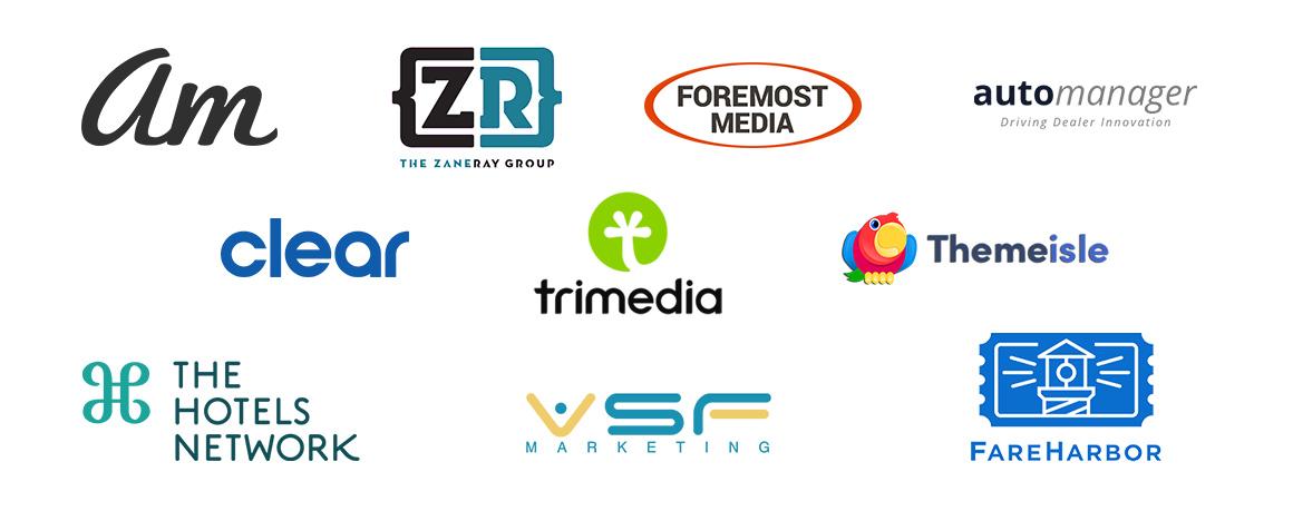 Logos of companies that partner with Olark