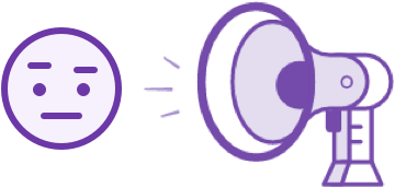 illustration of a megaphone shouting
