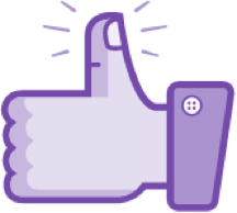 illustration of a hand giving thumbs up