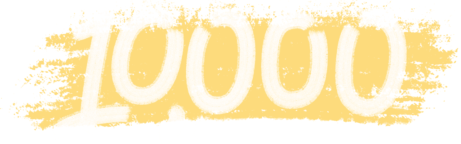 10,000 customers graphic