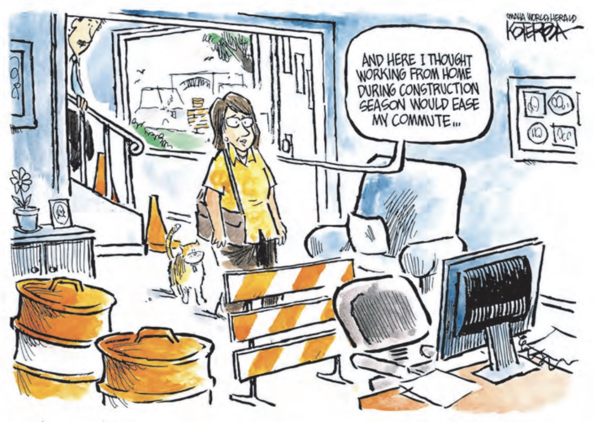 You will need to be creative to create a replacement for your commute - comic by Jeff Koterba
