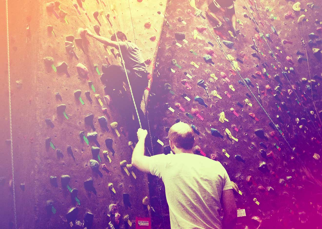 helping while rock climbing